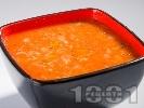 Рецепта Доматена крем супа с ориз, моркови и босилек